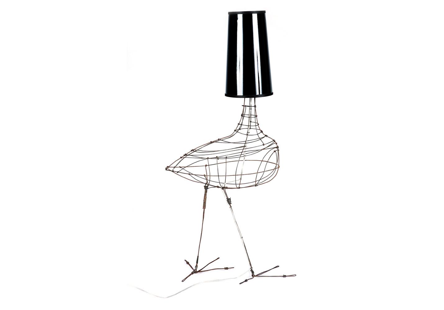 Collection SIXTIES - Lampes avec abat-jour de fil de fer de Marie ... - Lampe Oiseau