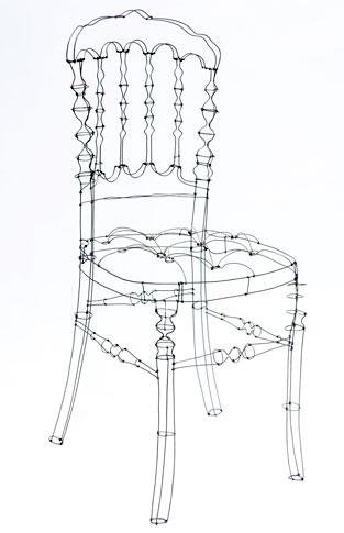sculptures de fil de fer pour de grandes marques de la mode et du ... - Chaise En Fil De Fer